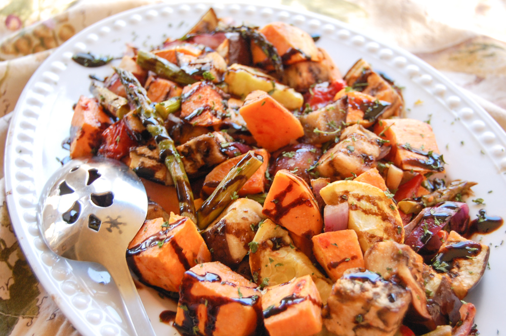 Roasted Vegetables with Balsamic Reduction